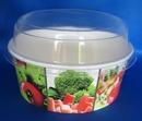 Контейнер бумажный 750мл для салатов с купольной прозрачной крышкой