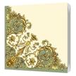 Салфетки Флорентийский стиль зеленый 24х24 2-х слойные (50шт/уп)