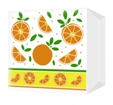 Салфетки Апельсины 24х24 однослойные (100шт/уп)
