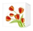 Салфетки Тюльпаны 24х24 однослойные (100шт/уп)